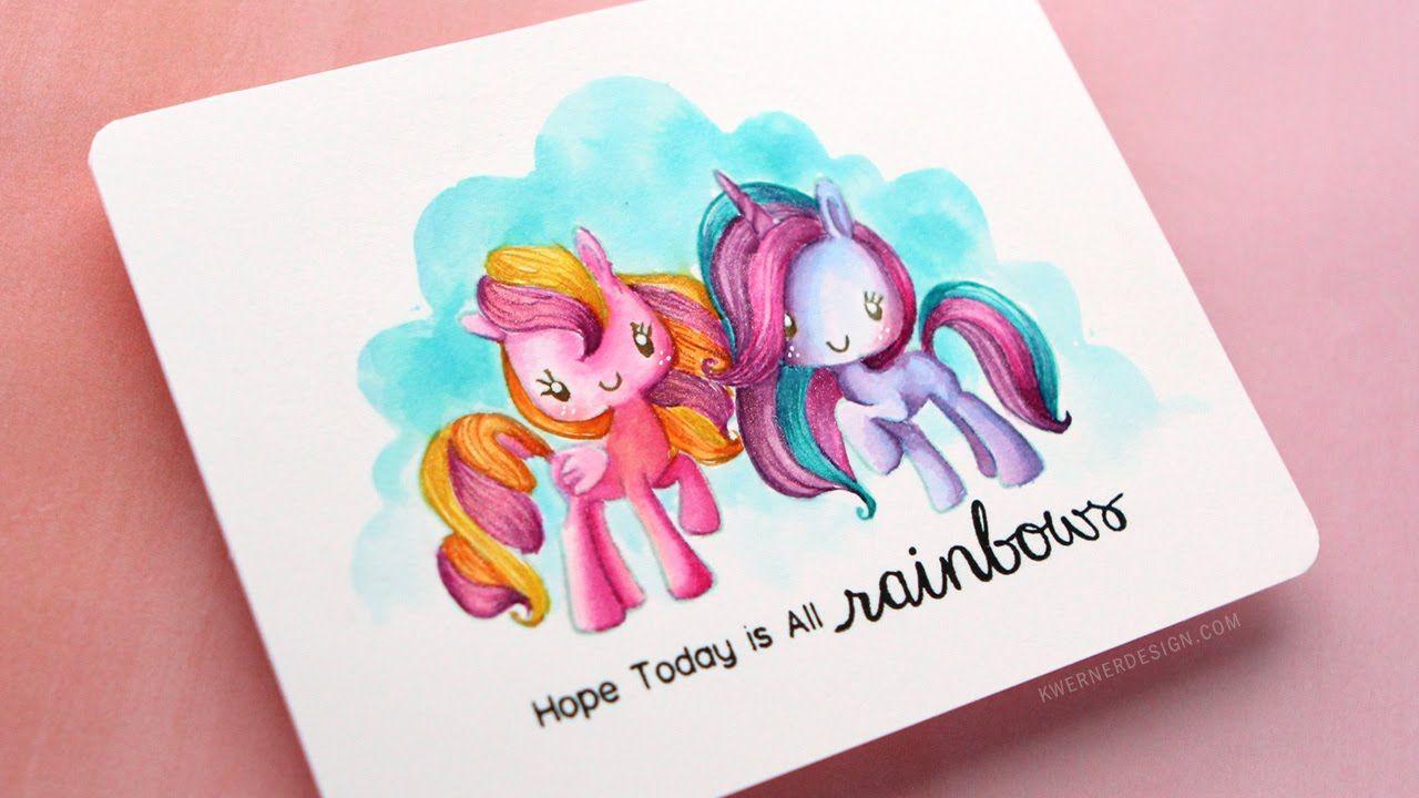 rainbow unicorn noline watercoloring featuring the