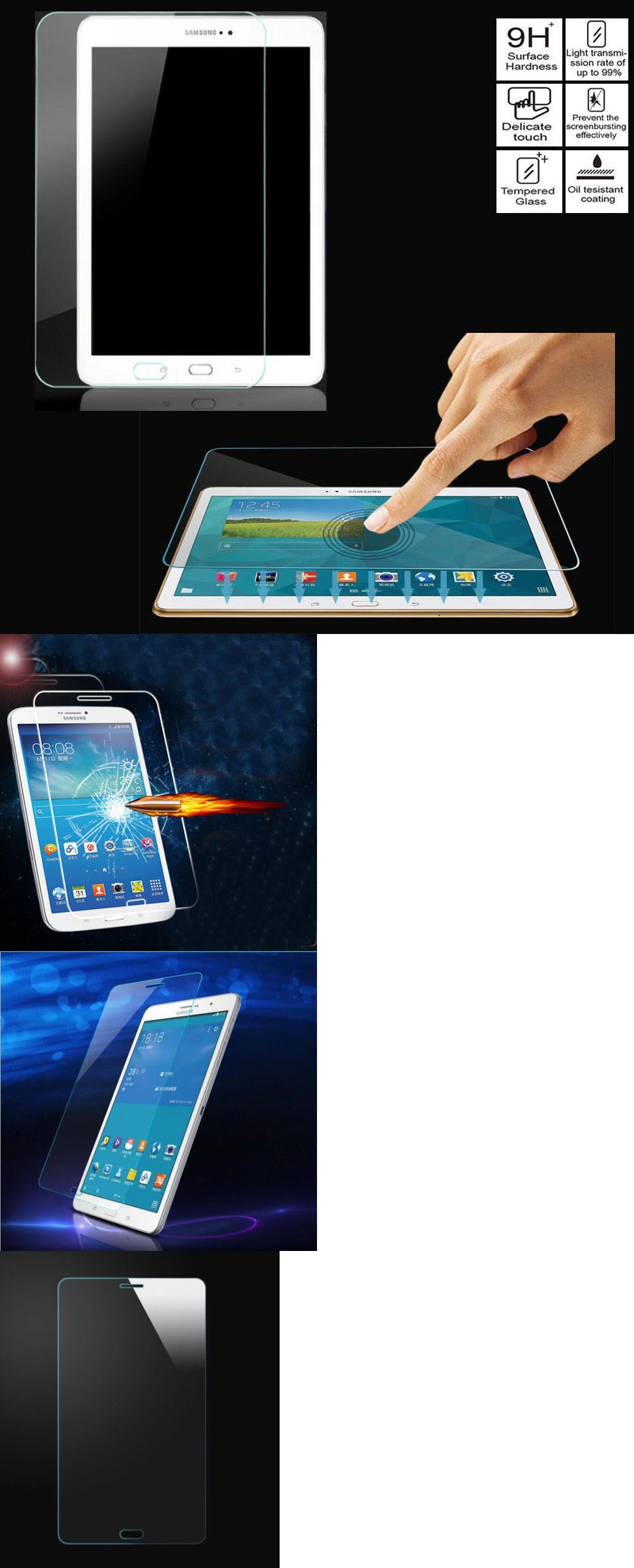 Tempered Glass Screen Protector for Samsung Galaxy Tab 2 3 4 E A S Tablet US Lot
