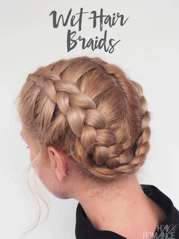Quick And Easy Hairstyles For School Best Hairstyles For Teens Wet Hair Braids Easy And Cute Hairc Easy Hairstyles Braided Hairstyles Cool Braid Hairstyles