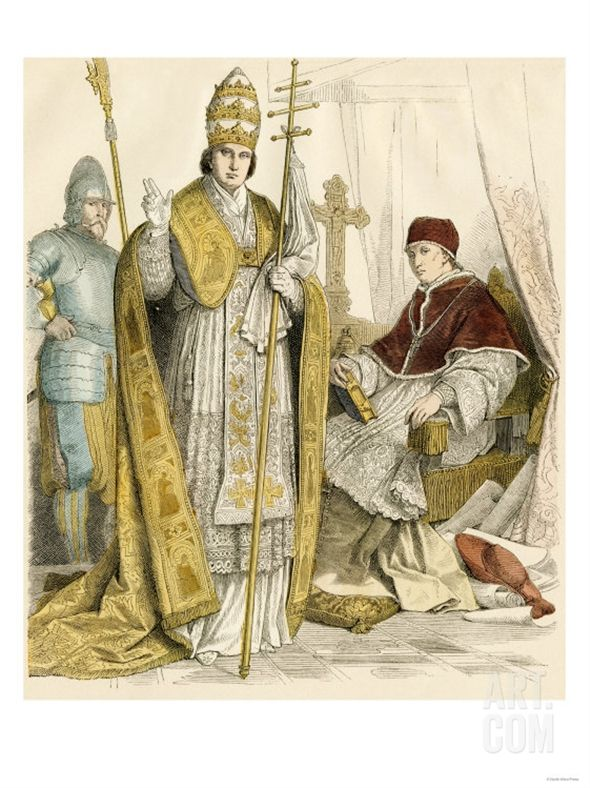 Roman Catholic Pope In Formal Attire And In House
