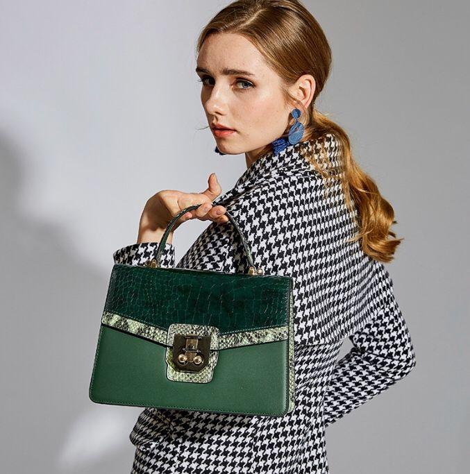 Photo of 100% Genuine Leather Ladies Hand Square Bags Qiwang Cowhide Women Small Handbags 2019 Elegant Shoulder Crossbody Bags for Women | www.minogdin.com