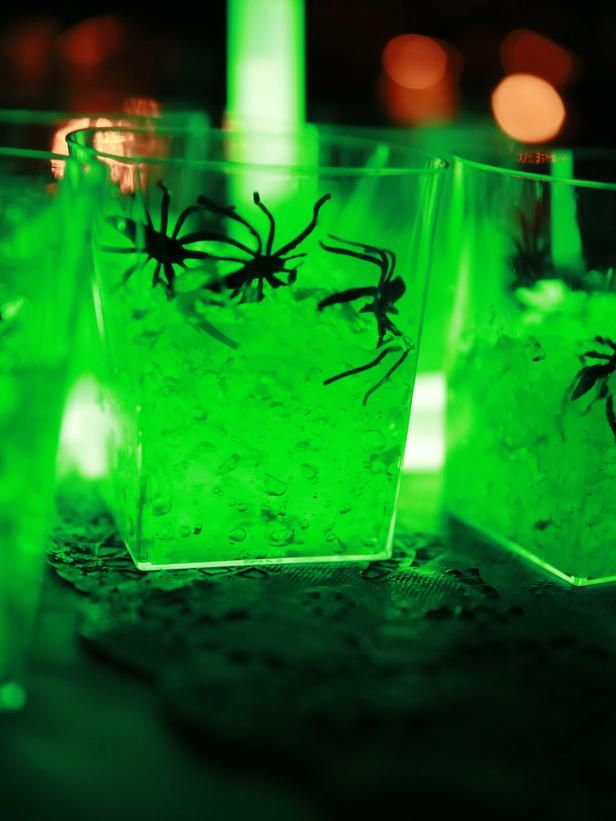 use glow sticks to create spooky halloween jars httpsglowproductscom - Glow Stick Halloween Decorations