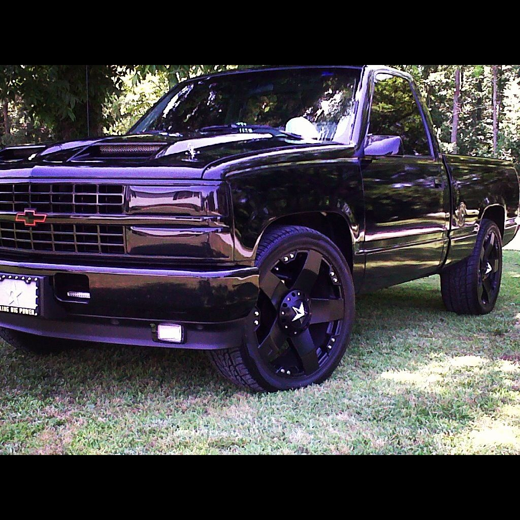 93 chevy if he blacks out the truck
