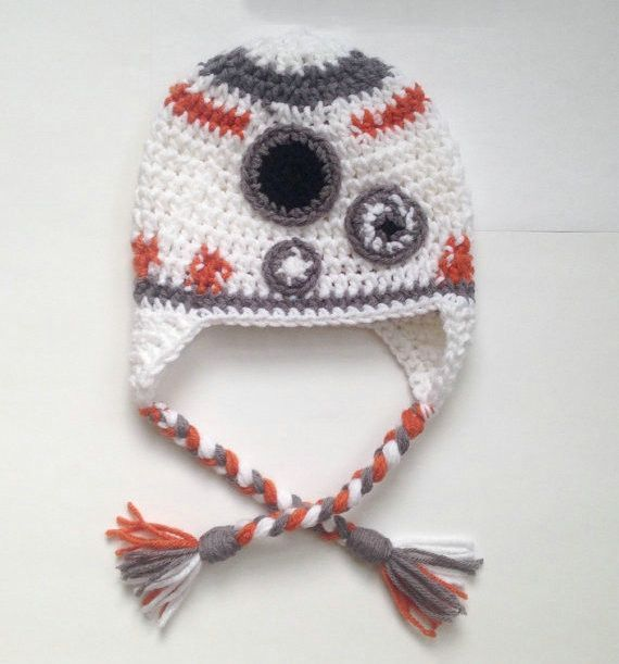Star Wars BB-8 Knitted Beanie Hat for Baby Girls Boys Warm Winter ...