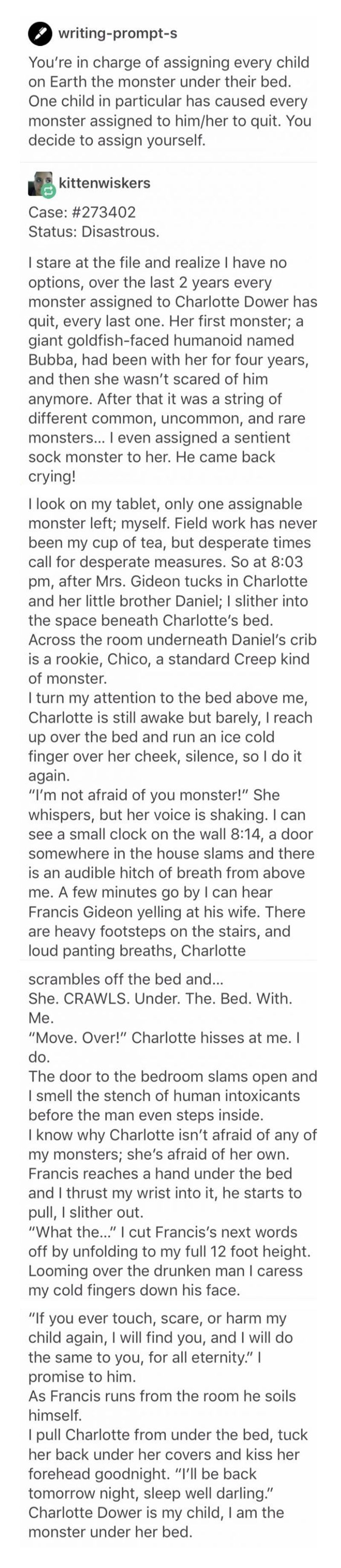 004 I'm not afraid of you, monster. [Long read] Writing