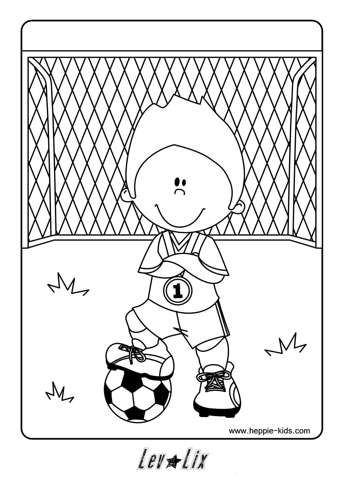 Quatang Gallery- Kleurplaat Voetbal Voetbal Vaderdag Knutselen Voetbal Kleurplaten