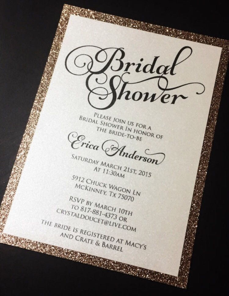 Invite Your Guests To Your Bridal Shower In Style With