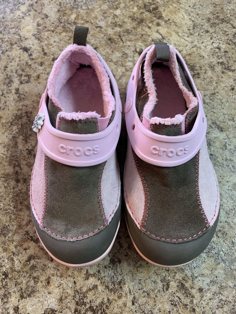 55d466f47e4f0 Crocs Girls Pink Brown Lined Winter Crocs Size 13 M  fashion  clothing   shoes  accessories  kidsclothingshoesaccs  girlsshoes (ebay link)