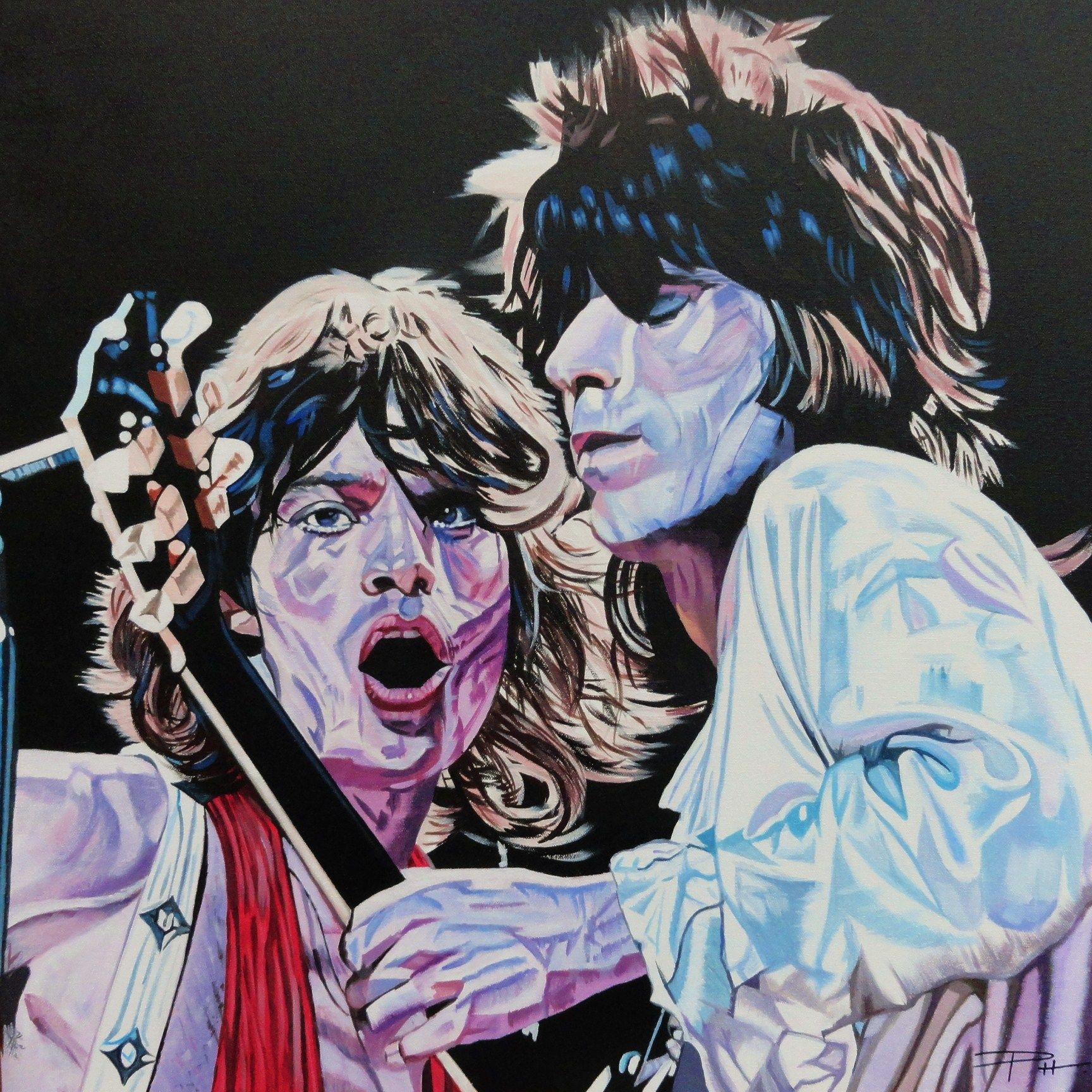 Rolling Stones Live 1972  Portrait of Mick & Keith  24