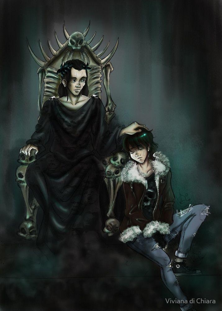 The Son Of Hades By Viviana Di Chiara Redbubble Percy Jackson Books Percy Jackson Fan Art Percy Jackson Head Canon
