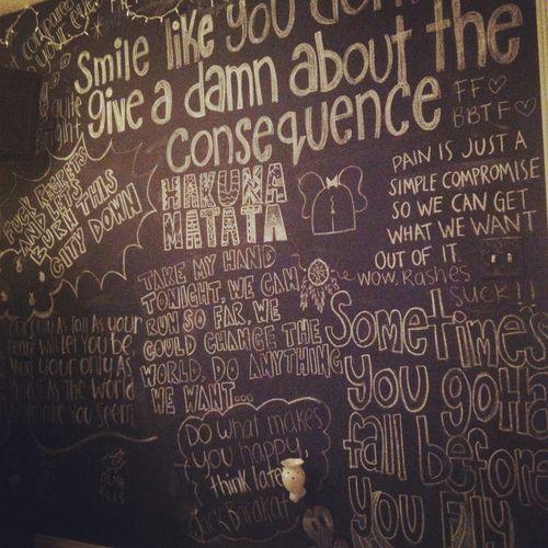 Chalkboard Wall Tumblr Chalkboard Wall Bedroom Chalkboard Chalkboard Wall