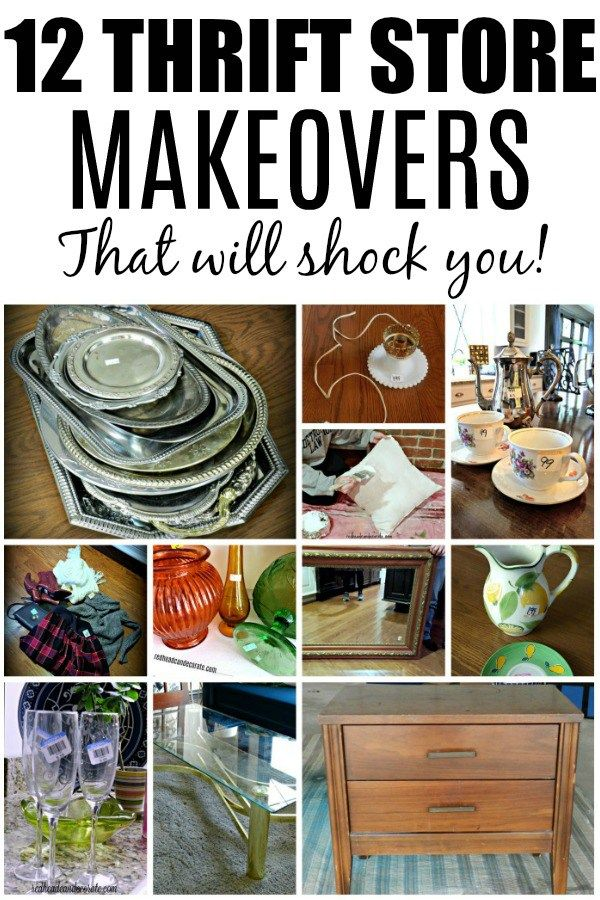 12 Thrift Store Makeovers Thrift Store Furniture Thrift Store Shopping Diy Furniture Nightstand