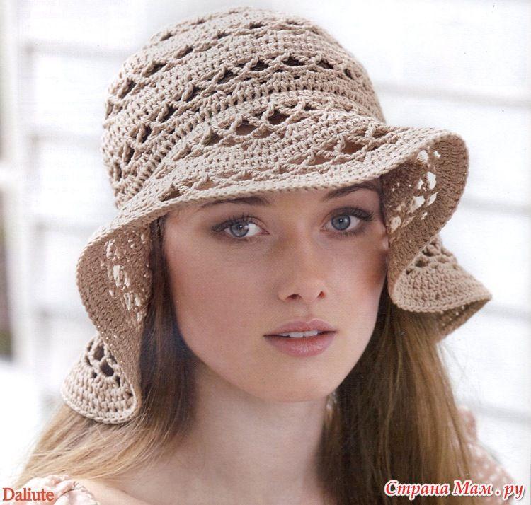 Панама летняя ажурная | вязание | Pinterest