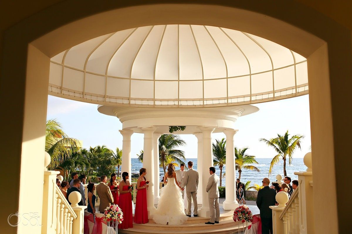 Mexico Destination Wedding Barcelo Maya Palace Beautiful Ceremony In A Gazebo