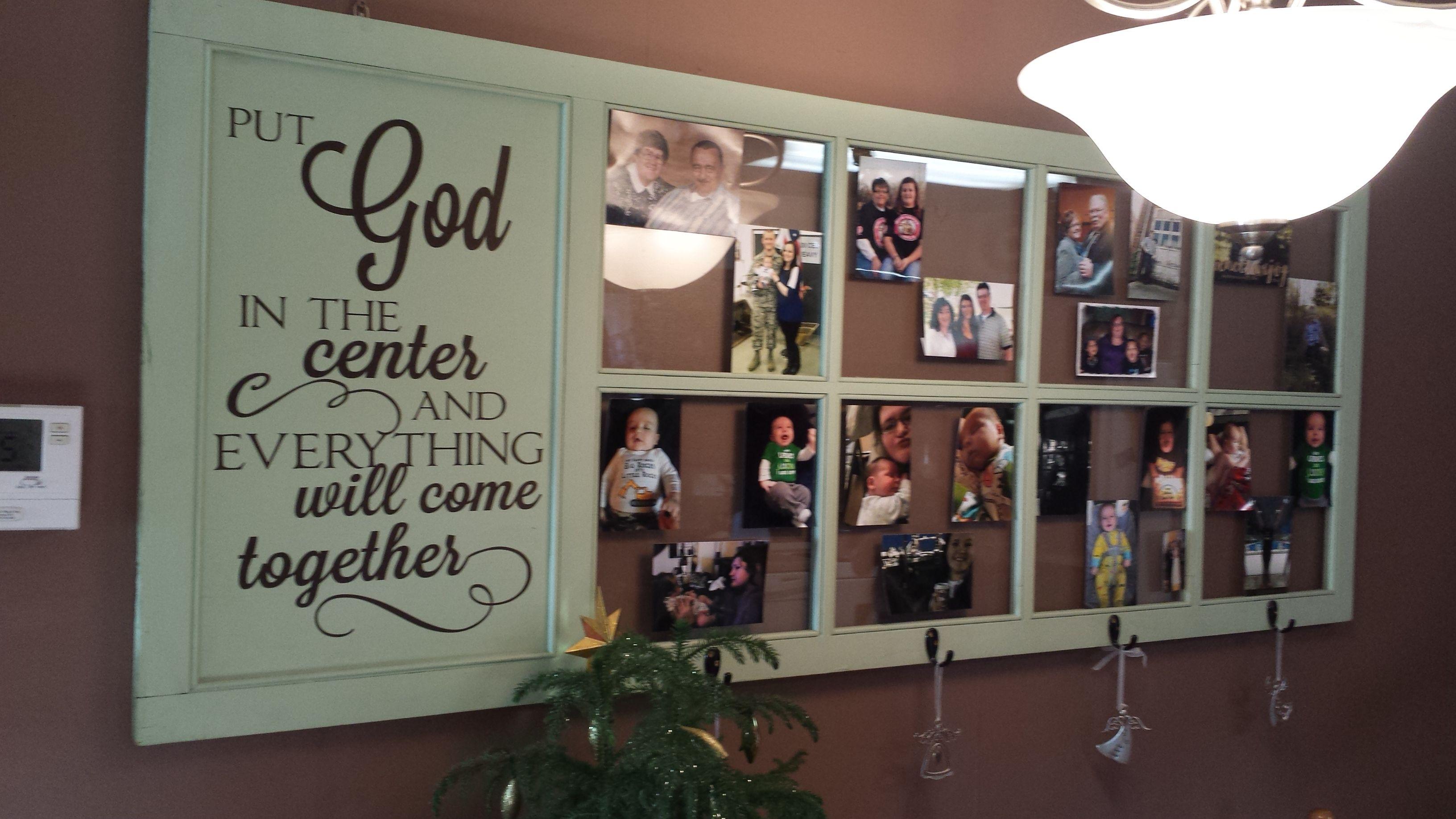 Put God In The Center Religious Quote Vinyl Wall Decal Religious - How to put a vinyl decal on a wall