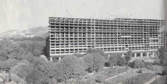Pic. 14 Unidade de Habitación: Construción do bloque.