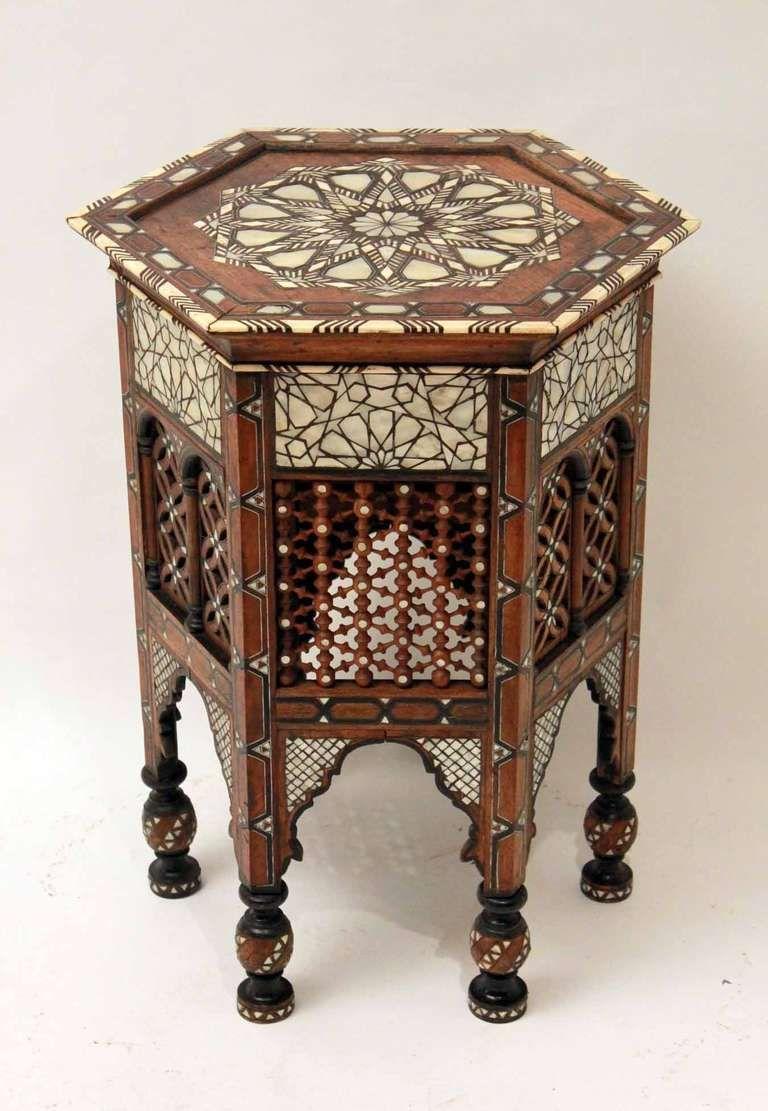 Beautiful A Decorative Large Scale 19th Century Islamic Table