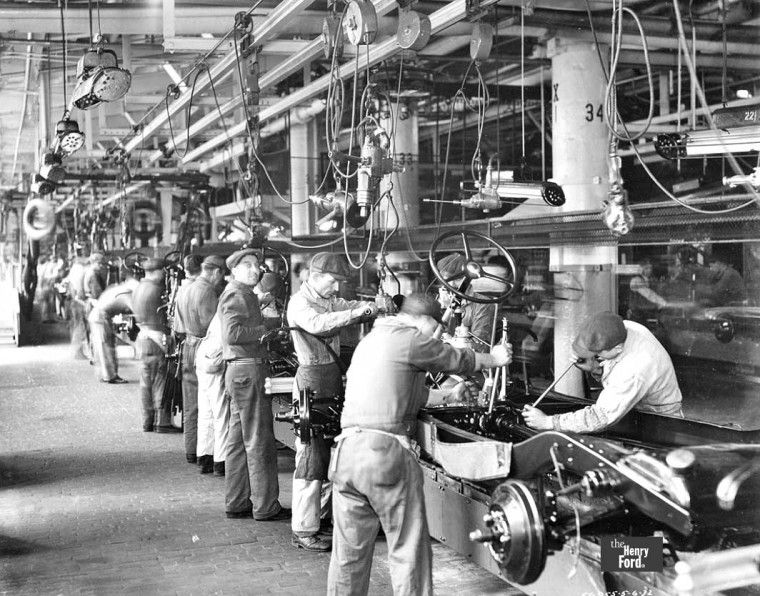 1932 Ford Chasiss Assembly Line Assembly Line River Rouge Ford