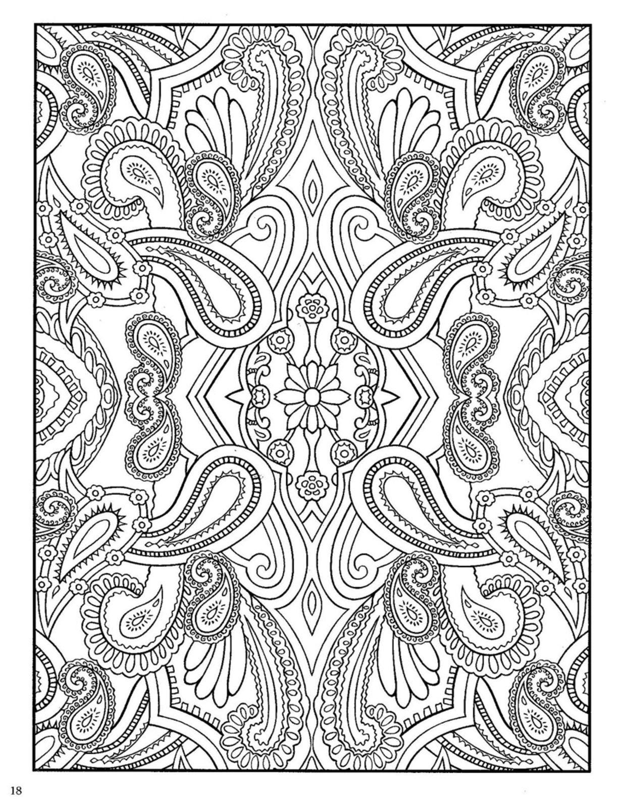 Dover Paisley Designs Coloring Book | Dover Coloring | Paisley ...