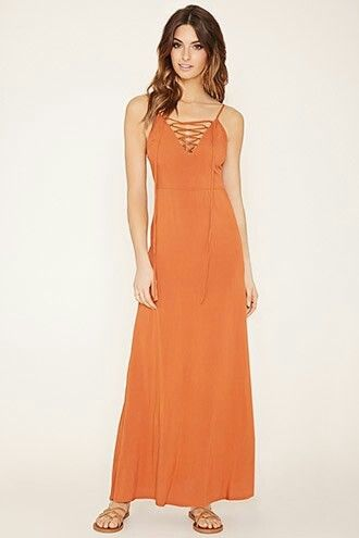 Comtemporatry lace up maxi dress