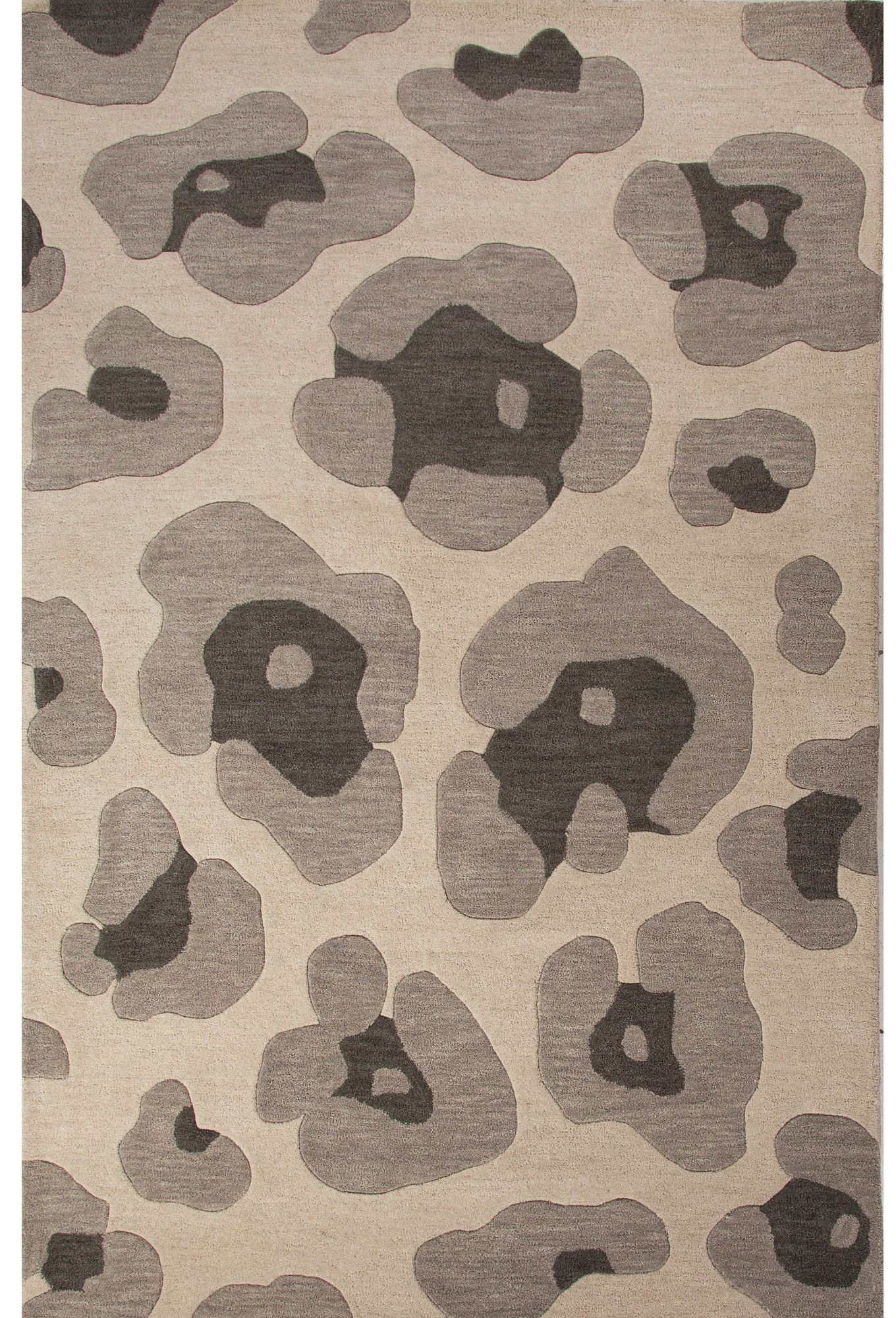 Alfombras Animal Print National Geographic Home Wool Gray Hand Tufted Area Rug Products