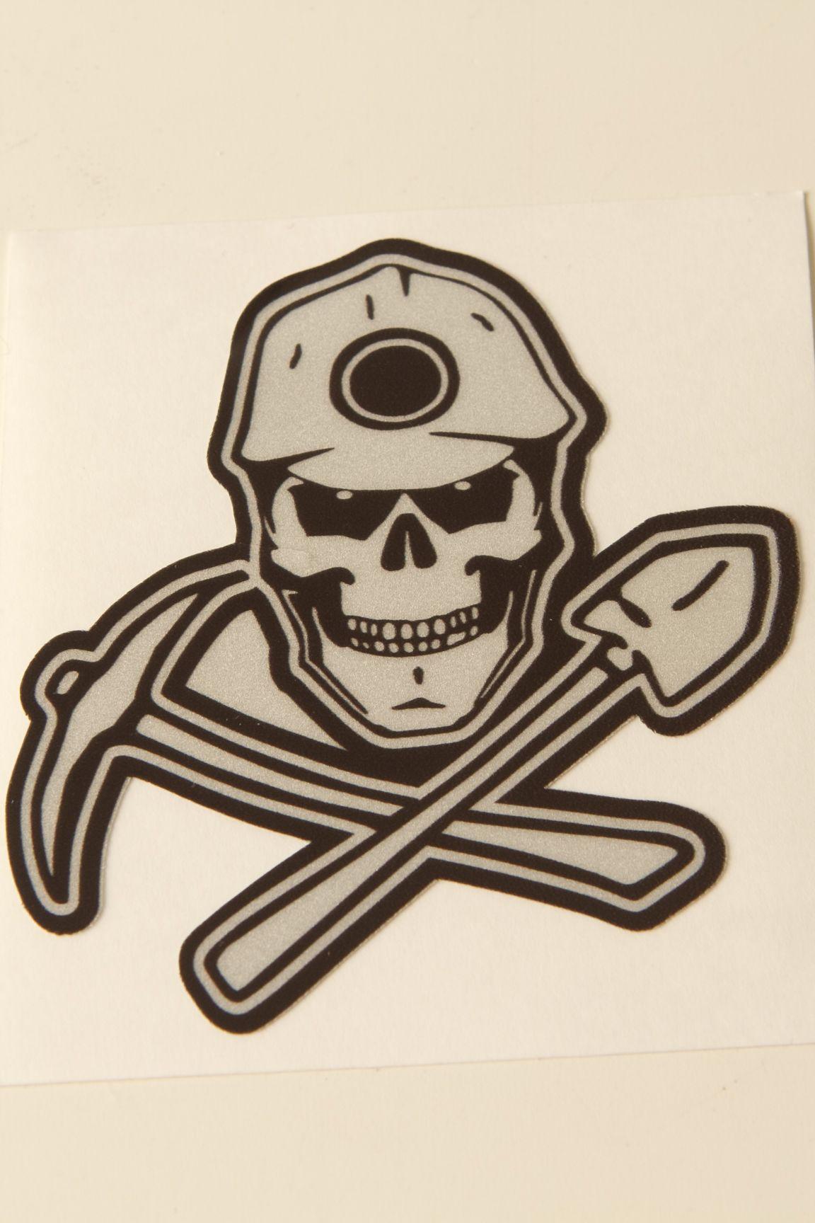 Public Works Skull W Hardhat Cross Shovel Amp Wrench