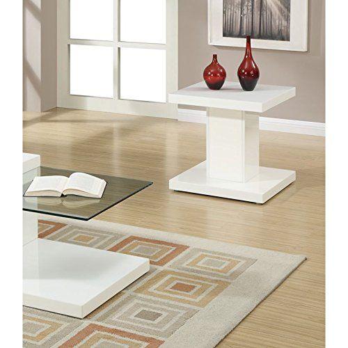 Modernes Weiß Massiv Tisch Top End Tisch von poundex Wohnideen - Moderne Tische Fur Wohnzimmer