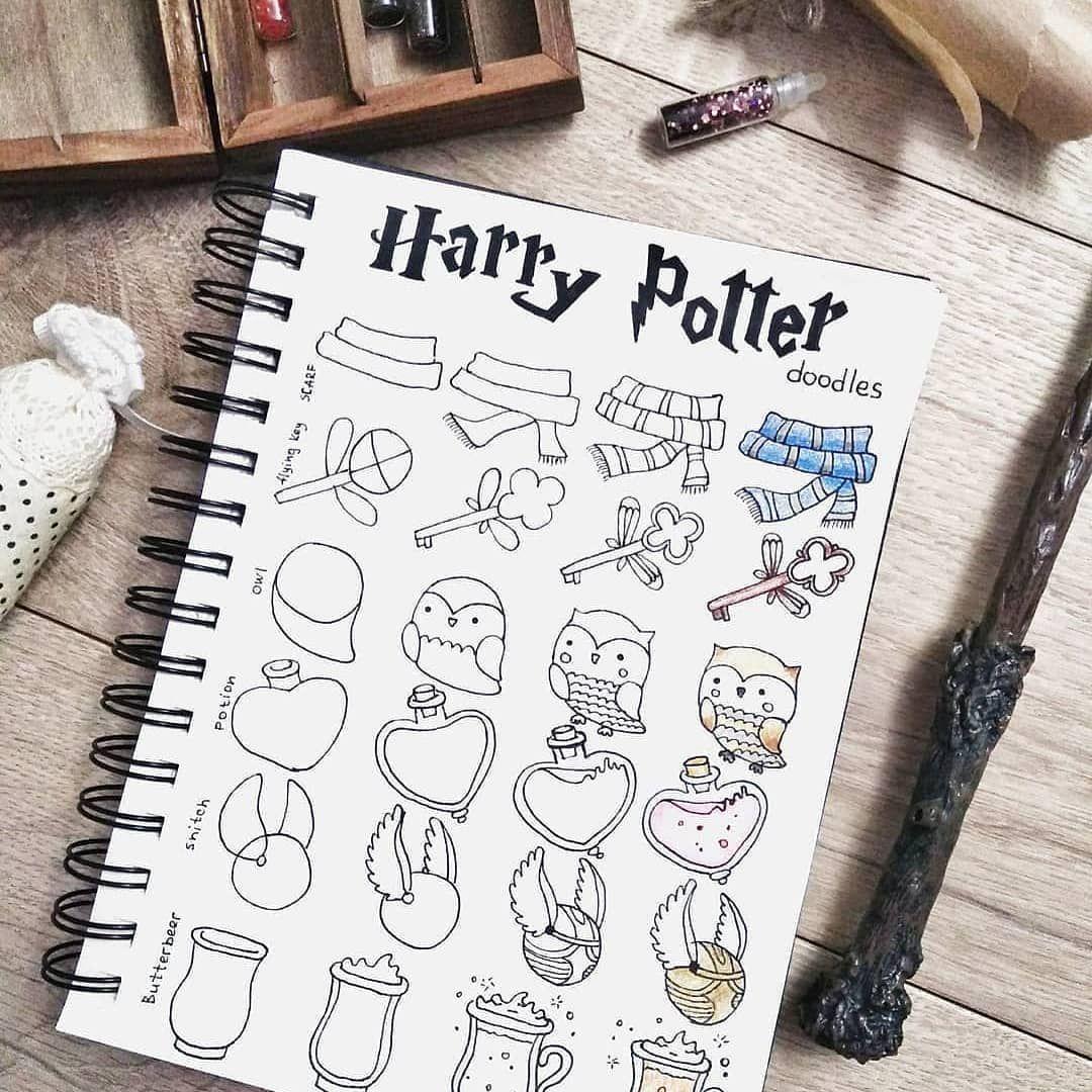 Bujo Index On Instagram Harry Potter Doodles Tag A Potterhead Via Ginger Bul Bullet Journal Doodles Bullet Journal Inspiration Bullet Journal Art