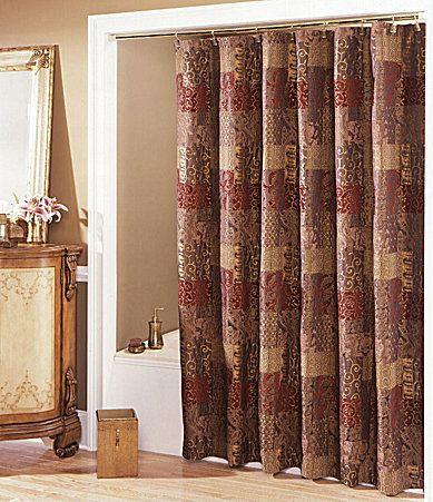 croscill galleria red shower curtain #dillards | fall and autumn