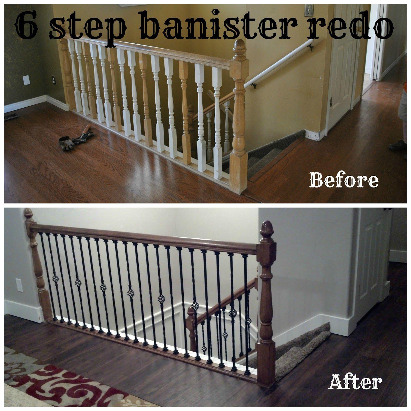 Best Bits Of Everything 6 Step Banister Redo Home Redo 400 x 300