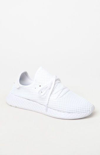 adidas bianco deerupt runner scarpe pinterest adidas, minimalismo