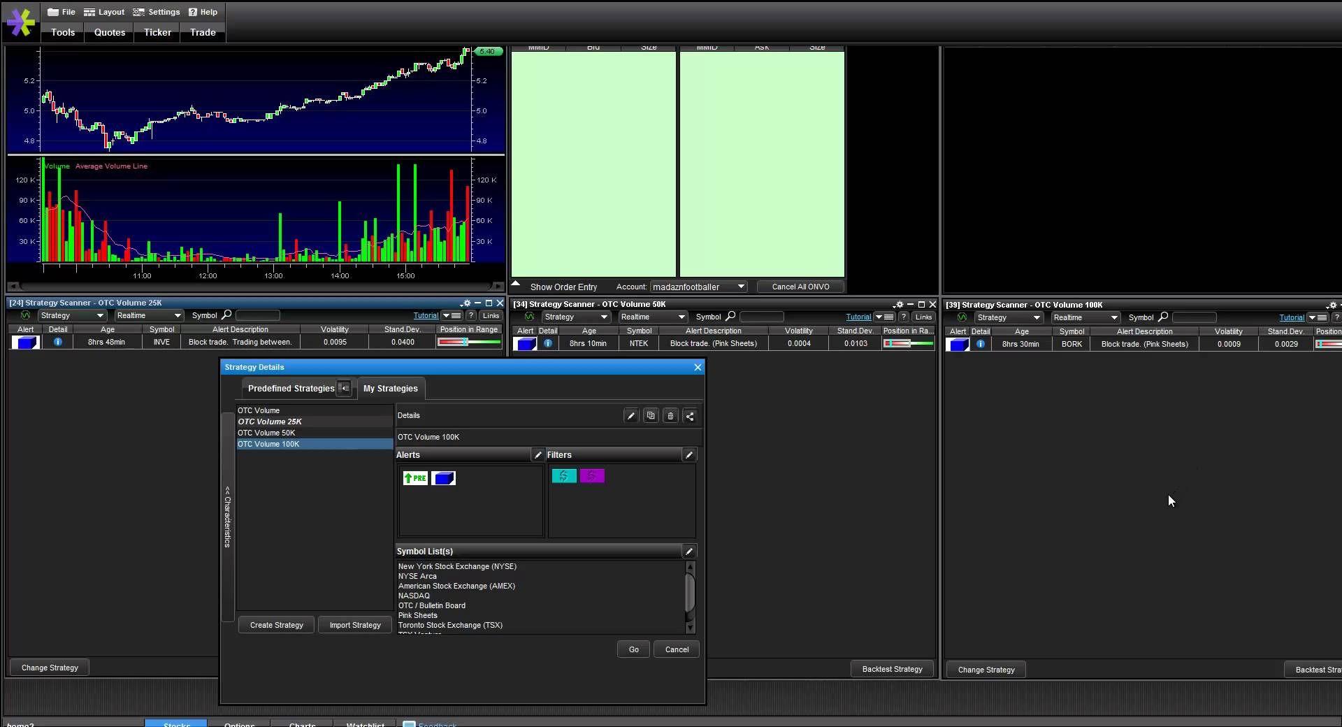 How I Setup My Stock Scanner Screener On Etrade Pro Platform For