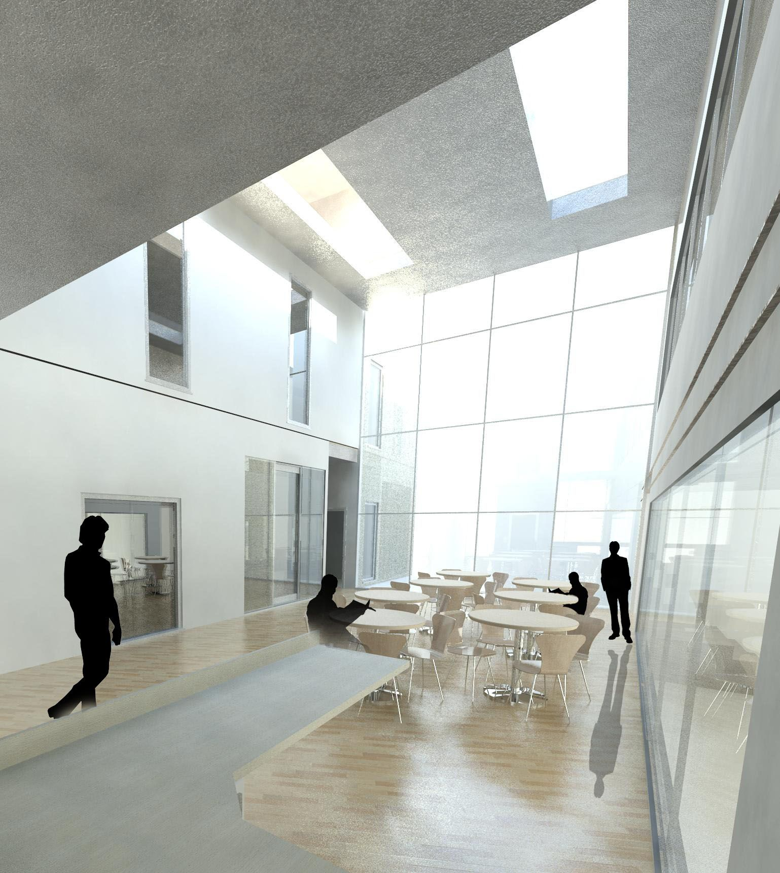 Open light space for the public to socialise in