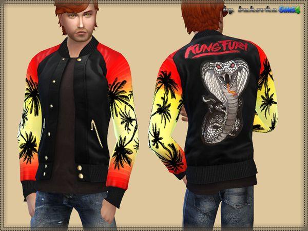 The Sims Resource: Jacket Kung Fury by bukovka • Sims 4