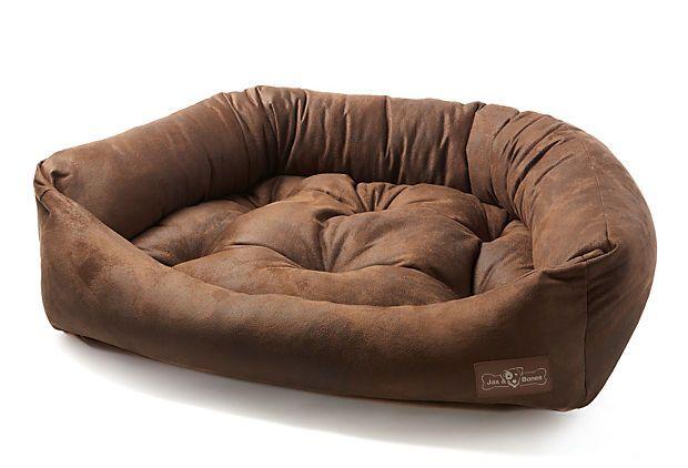 Cognac Napper Bed Brown Black On Onekingslane Com Dogs