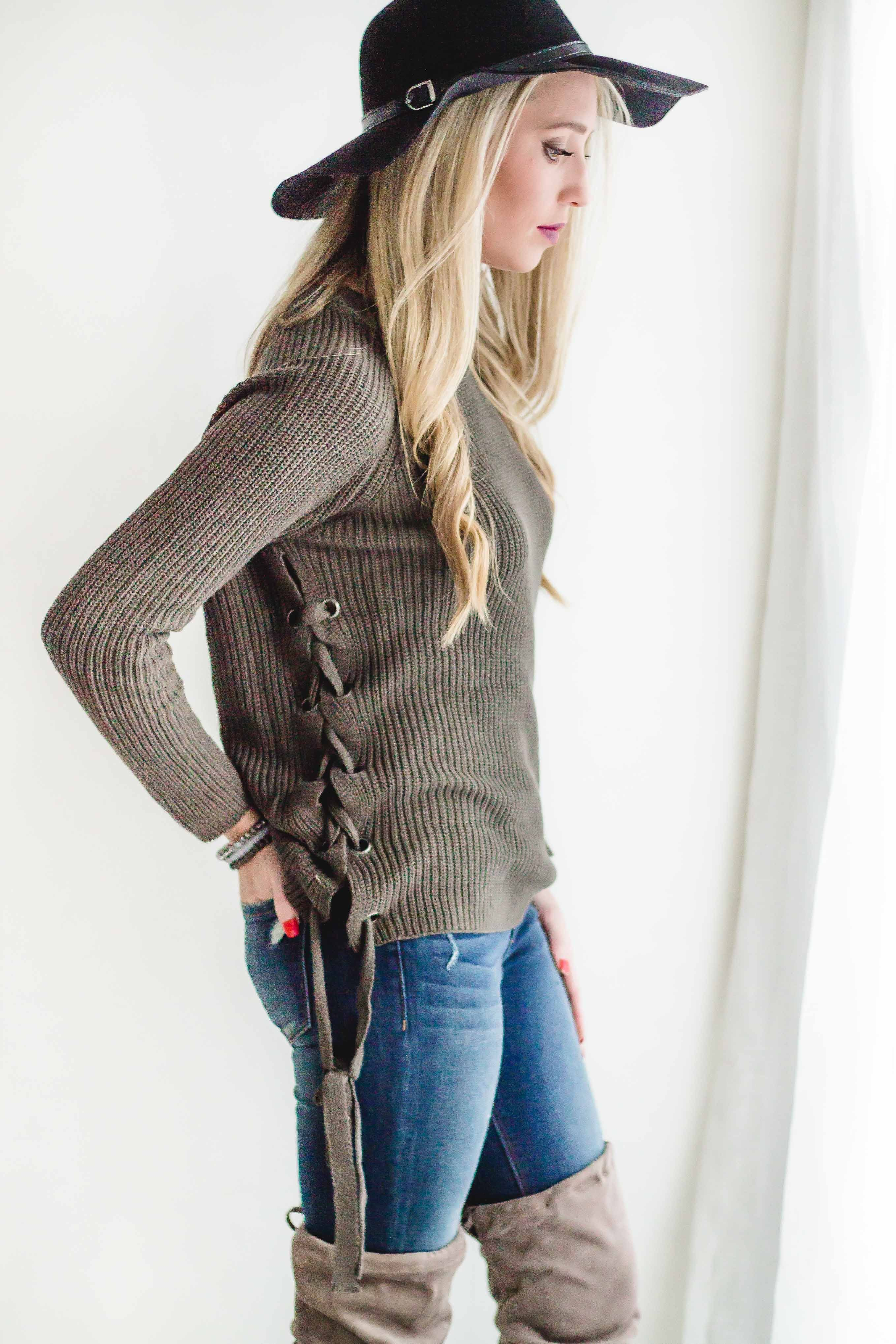 Tied Up Cable Knit Sweater | Cable knit sweaters, Cable knitting ...
