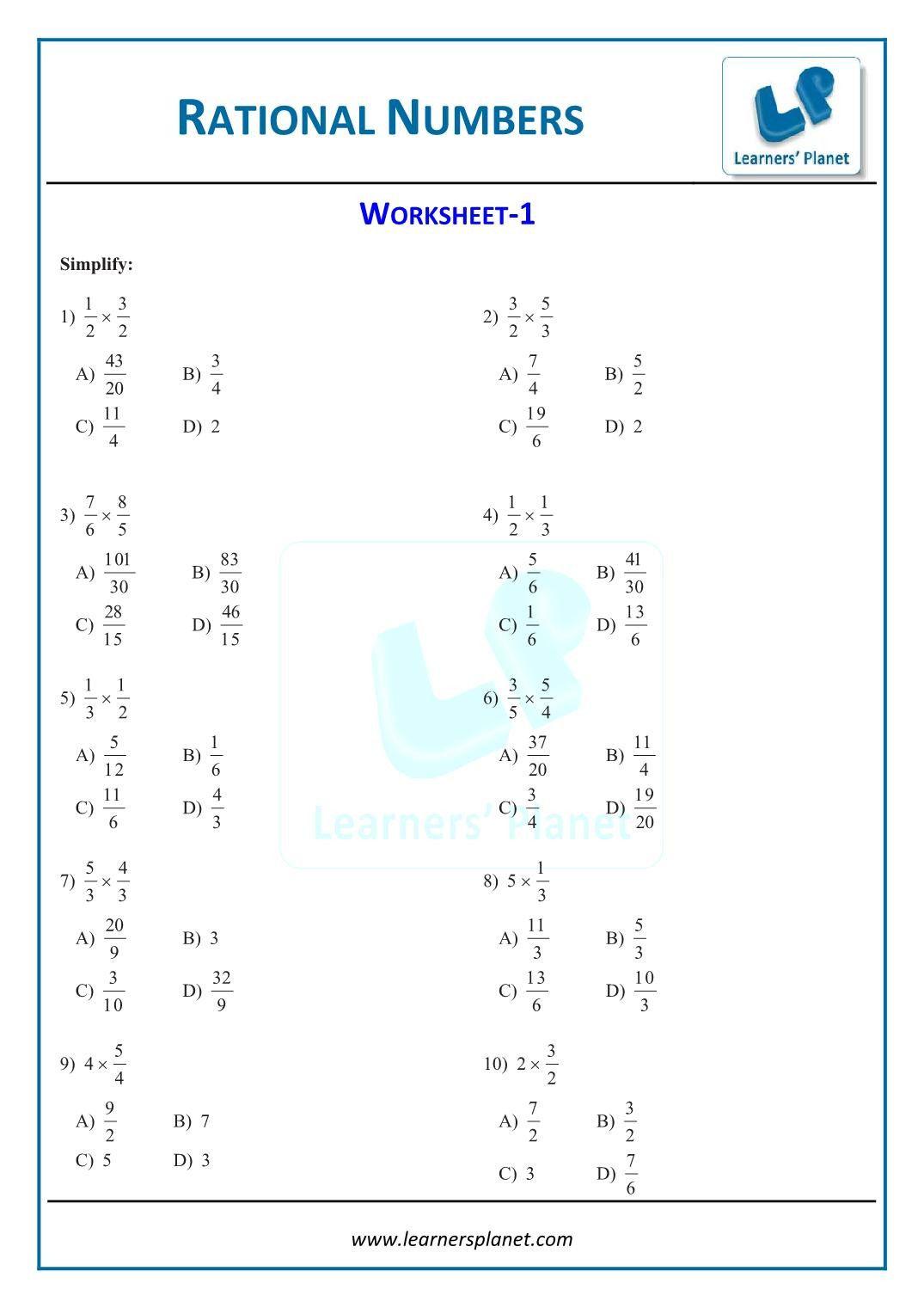5th Grade Pemdas Worksheets Printable Maths Rational