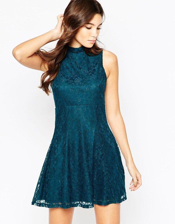 ASOS COLLECTION ASOS Sleeveless Lace Skater Dress  740e08f5dd5