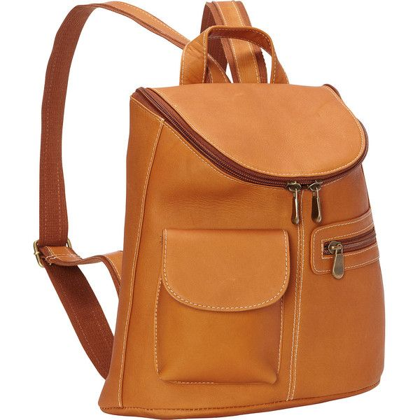 Le Donne Leather Lafayette Classic Backpack ($93) ❤ liked on Polyvore featuring bags, backpacks, handbags, leather handbags, tan, pocket backpack, le donne backpack, genuine leather backpack, day pack backpack and leather knapsack
