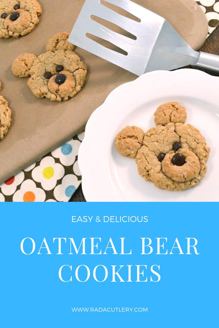 Oatmeal Bear Cookies Recipe Cute Oatmeal Cookies Recipe Bear Cookies Cookie Recipes For Kids Cookie Recipes