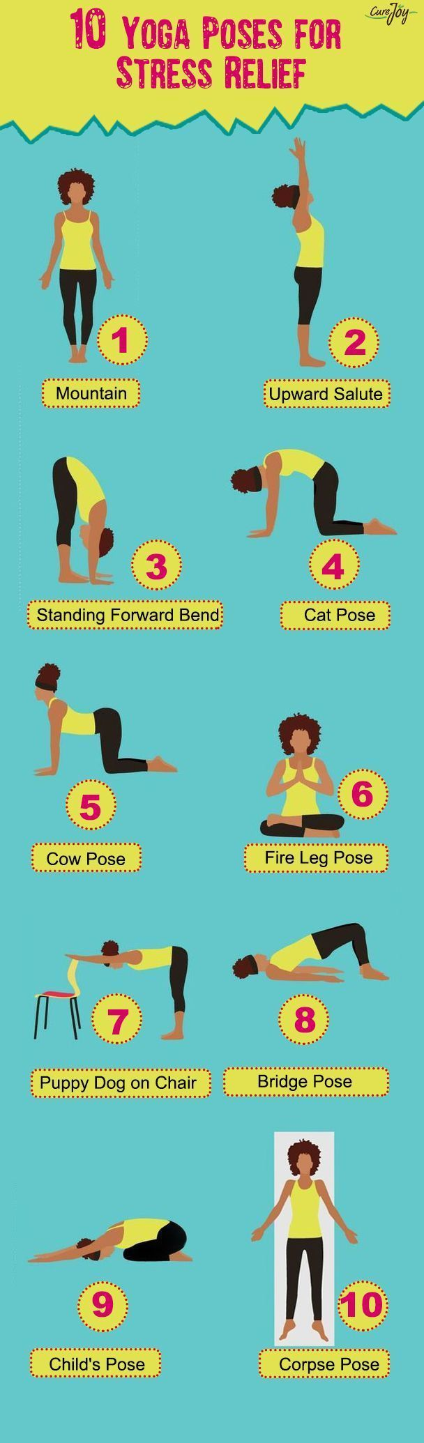 5 Easy Yoga Poses for Stress Relief #anxietyhustle Having to deal with our everyday life challenges whether as an employer of labour, a factory worker, or a business owner is a huge source of concern for us city people. The hustle and bustle of life sure drains energy as fast as, if not faster than our body can replace them. This leads to stress – and most times, anxiety. The eventual fallout is reduced productivity, tiredness, and illness. #anxietyhustle 5 Easy Yoga Poses for Stress Relief #a #anxietyhustle