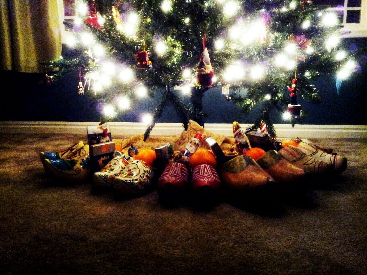 Wooden Shoes Under The Treedecember 5 Christmas Christmas