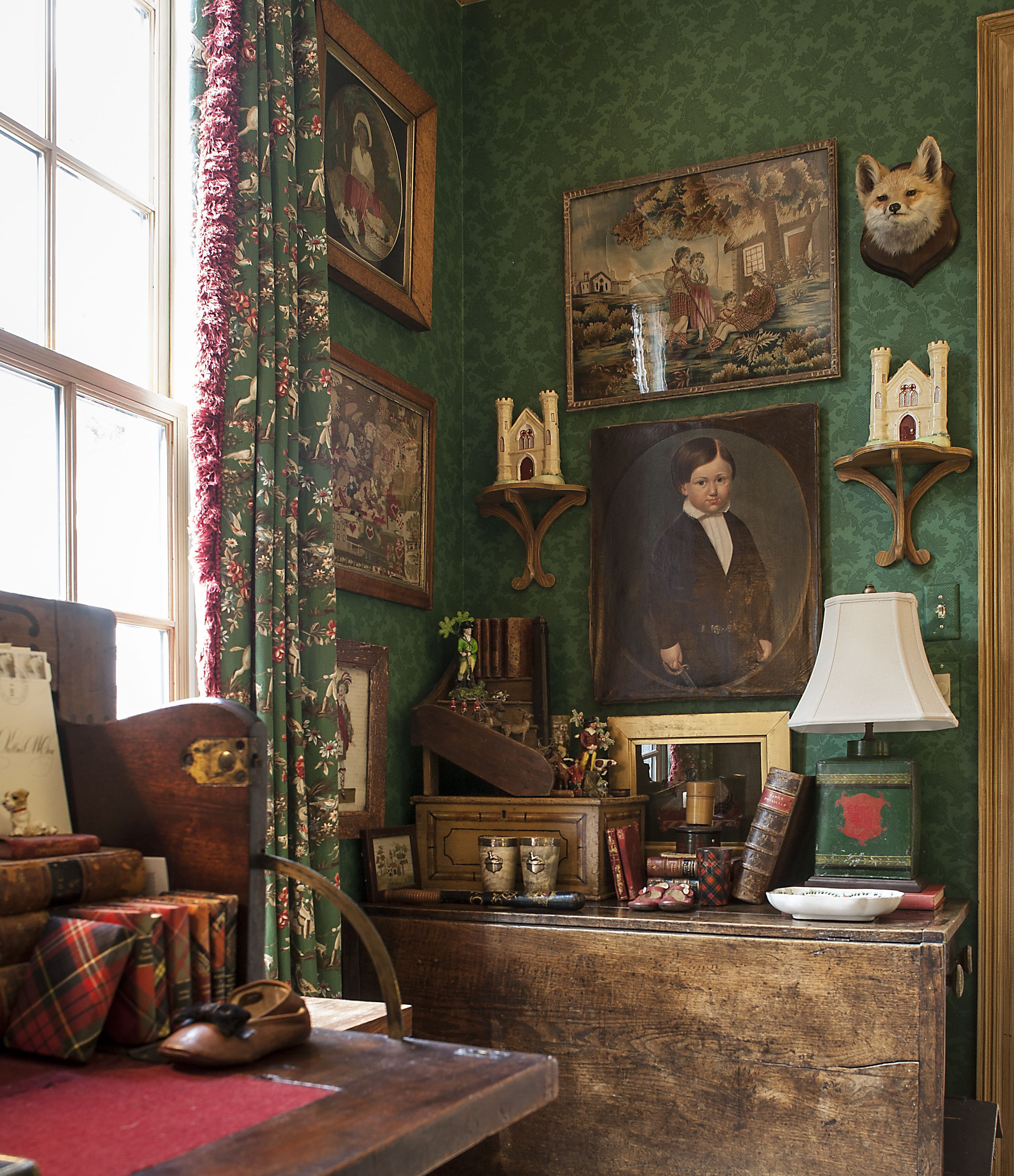 Layers of English objects. It feels like a small library to me. A ...