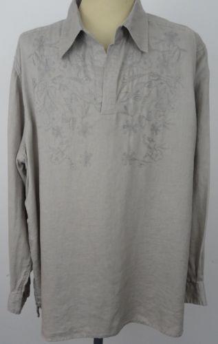 828a52c8528 Mens-Structure-Shirt-100-Linen-XL-Embroidered-Tunic-V-Neck-Beach-Boho-Hippie   boho  tunic  hippie  menstunic  embroidered  linen