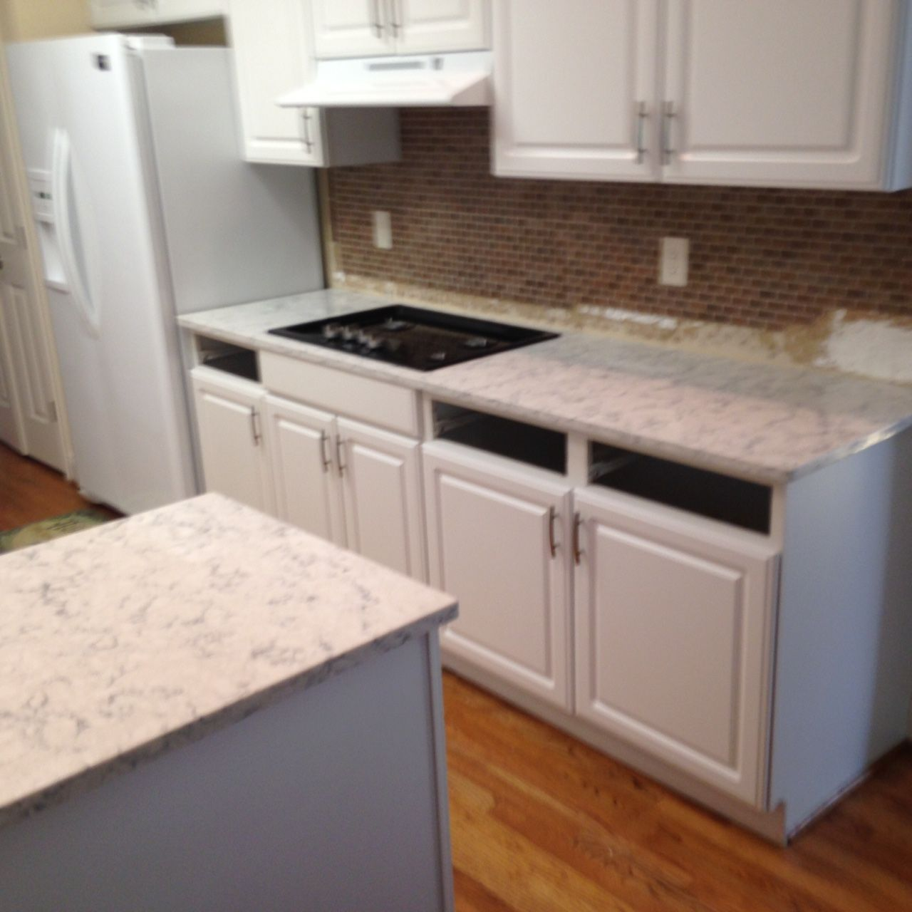 Rococo Lg Viatera Quartz Kitchen Countertop Install For The Purdy