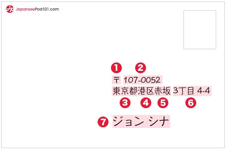 how to write a japanese address