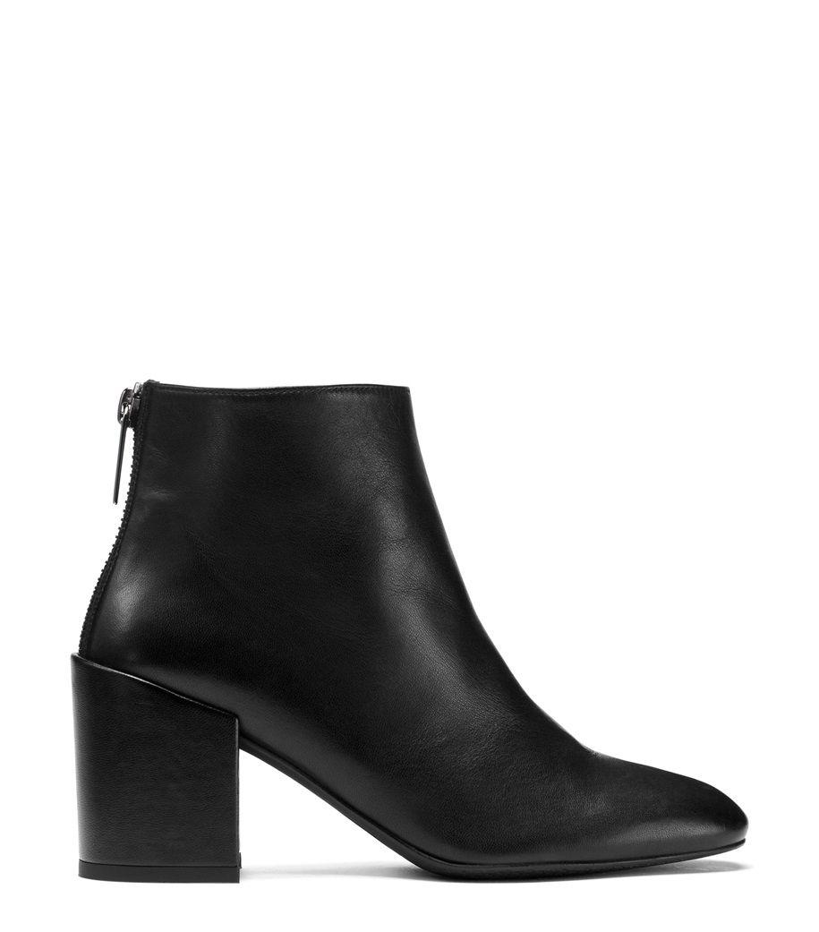 2016 Hot Sale L.K. Bennett Siara Block Heeled Ankle Boots Women Black Leather HMSJA84