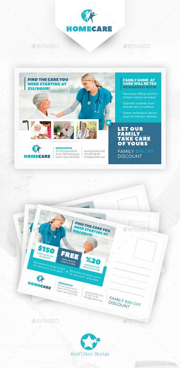 Home Health Care Postcard Templates   Postcard template, Template ...