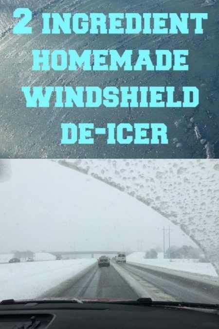 2 Ingredient Homemade Windshield De Icer To Try Out This 2 Ingredient Homemade Windshield De Icer All You Need Windshield De Icer Homemade Deicer Windshield