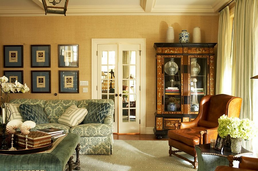 20 Living Rooms with the Textural Beauty of Grasscloth | Living ...